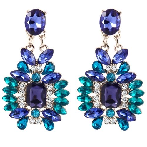 Mode Luxus Diamant Kristall Ohrstecker Legierung Ohrringe Ethnischen Stil für Frauen Schmuck