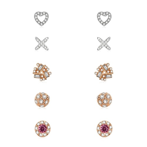 Fashion Alloy Embedded Crystal Tassel Drop Earrings Ear Studs Pendant Earrings for Women Jewelry