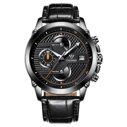 Orologio da uomo cronografo sportivo da polso al quarzo con orologio da polso da uomo