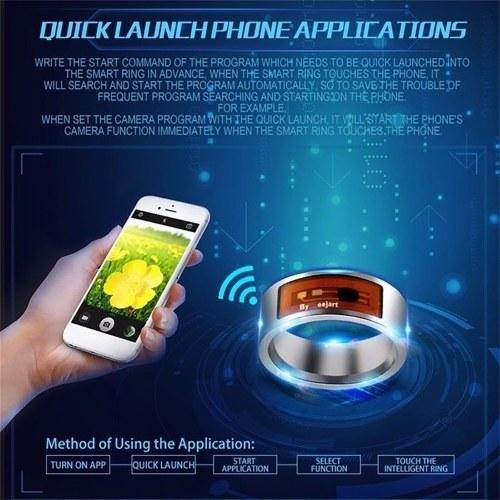 Smart Rings NFC Multifunctional Waterproof Intelligent Ring - cafago com