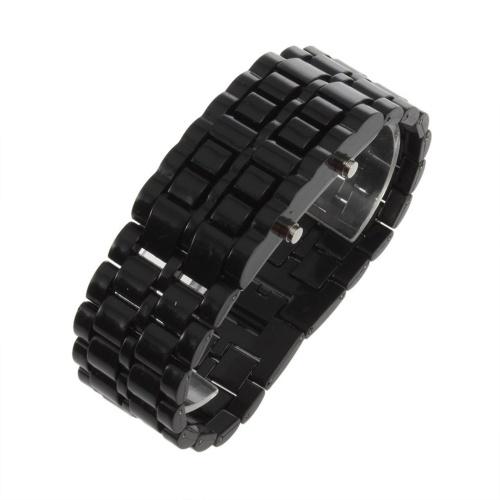 Пластиковые цифровые наручные часы с лавой