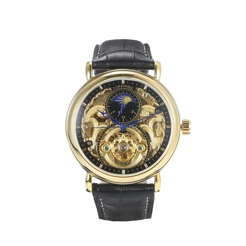 Forsining Men Fashion Luxury Hollow Orologio Classic Charm Automatic Orologio da polso meccanico