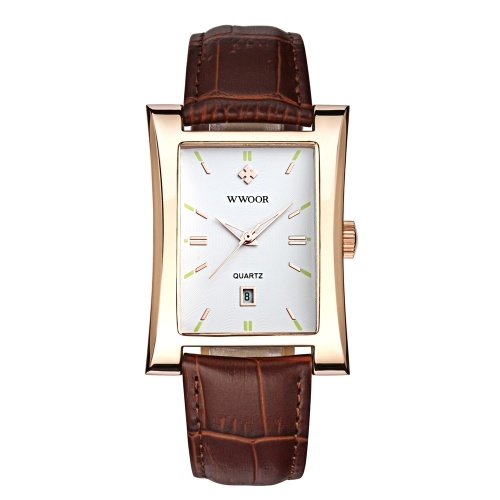 WWOOR Eye-catching Rectangle Dial Quartz Watch