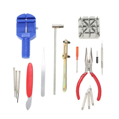 16PCS Practical Watch Repair Tool Kit Watch Band Pin Link Spring Bar Remover Case Back Opener