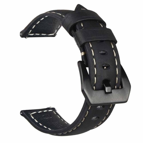 Para Samsung Galaxy Watch Premium Vintage Crazy Horse Correa de cuero genuino