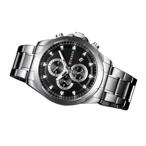 Curren 8354 montre homme étanche montre-bracelet à quartz