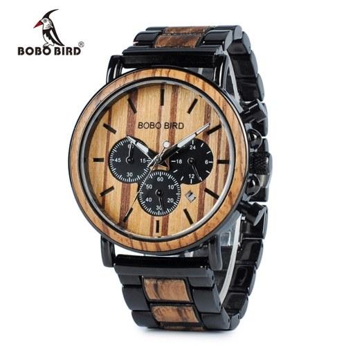 Relógio de quartzo de homens BOBOBIRD P09-1
