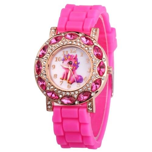 Animal Dial Palte Cute Design Wrist Watch