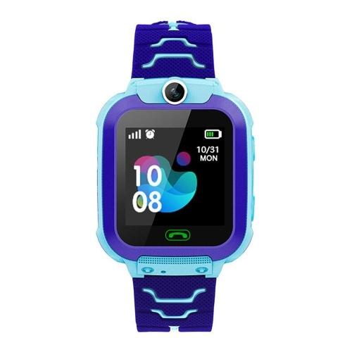 Детские интеллектуальные часы 2G 1,54-дюймовый ЖК-сенсорный экран IPX67 Водонепроницаемая двухсторонняя связь ПЗУ 32 МБ + ОЗУ 32 МБ Позиционирование LBS 10 Вт Камера Android OS Погодная сигнализация Отслеживание активности Спортивные смарт-часы с гнездом для Micro SIM-карты Силиконовый ремешок