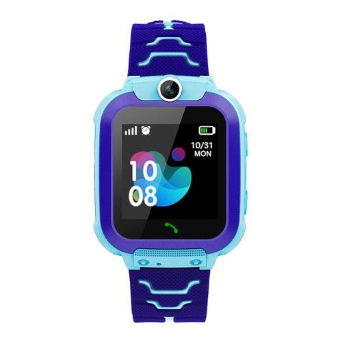 2G Kinder Smart Watch 1,54-Zoll-LCD Touchsreen IPX67 Wasserdichte 2-Wege-Kommunikations-ROM 32 MB + RAM 32 MB LBS Positionierung 10-W-Kamera Android OS Wetteralarm Aktivitäts-Tracker Sport-Smartwatch mit Micro-SIM-Kartensteckplatz Silikonband