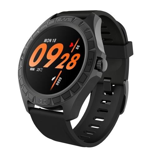 1.3 `` Reloj inteligente 300 mAh Batería Frecuencia cardíaca Monitoreo de la presión arterial Sueño científico Rastreador saludable 23 Modo deportivo IP68 Impermeable Fitness Smartwatches