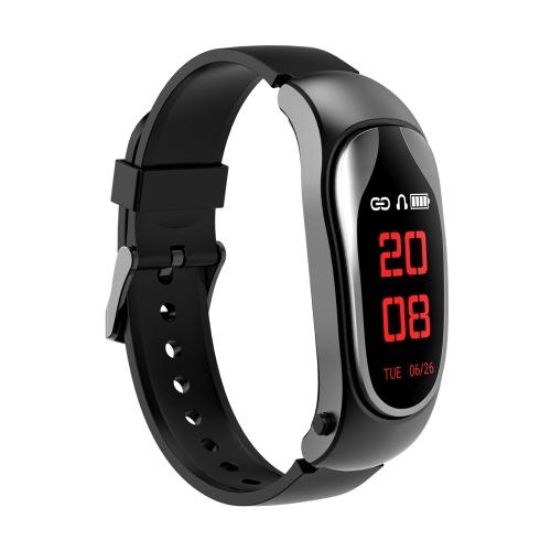 KINGWEAR Smart Watch Braccialetto intelligente da polso con attività per auricolare