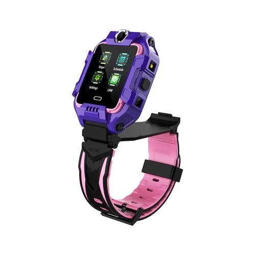 LEMFO Y99 1.4-Inch IPS Screen 4G Children's Smart Watch- Purple Europe-Africa Version