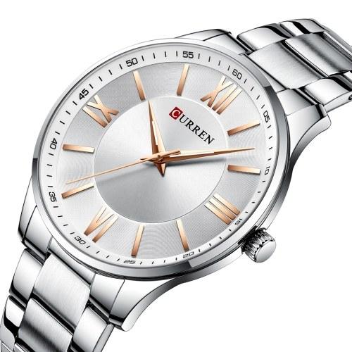 CURREN 8383 hommes montre à Quartz bracelet en acier inoxydable mode multifonction montre-bracelet 3ATM chronographe robe montres