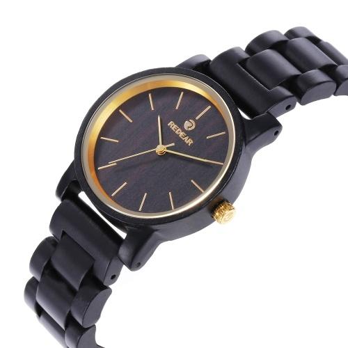 Мужские деревянные часы REDEAR Wood Watch Аналоговые кварцевые сверхлегкие деловые повседневные часы Наручные часы His and Hers Lovers Set