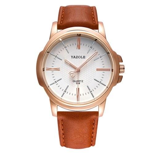 Business Fashion Herrenuhren Quarzuhr Lederband Armbanduhr Kleideruhren