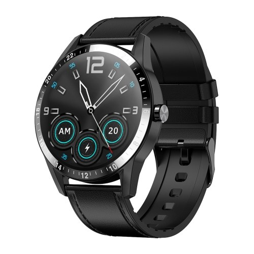 G20 1.3 Inch IPS Screen Smart Watch Phone Watch with Leather Strap for Men Women