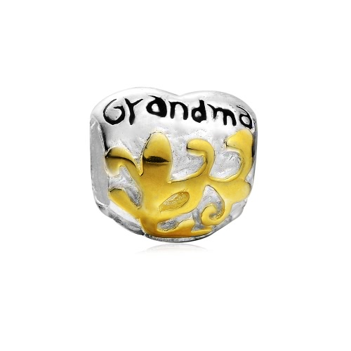 Romacci S925 plata abuela encanto grano para las mujeres 3mm serpiente Europea cadena pulsera brazalete collar moda accesorio de la joyería DIY