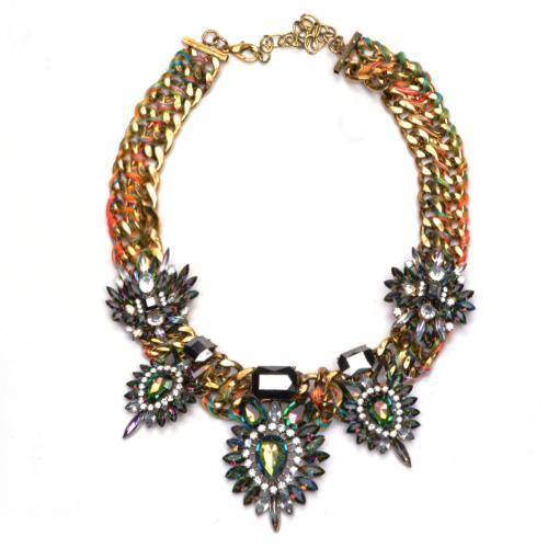 Moda Niepowtarzalne Vintage Retro Rhinestone Crystal Naszyjnik Naszyjnik Choker Biżuteria Chain dla kobiet Girls Gift Party