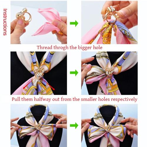 Image of Mode-Metallzink-Metallic-Schal-Schal Schnalle Clip Ring Brosche Schmuck Accessoires f