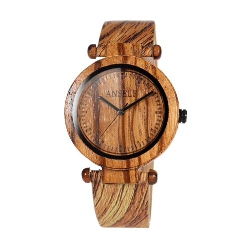 Anself Fashion High Quality Natural Bamboo Wooden Wristwatch