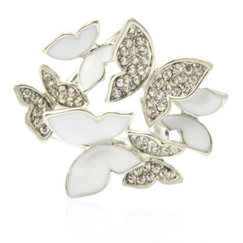Crystal Rhinestone de la manera de zinc metálico mantón de la bufanda hebilla de broche de joyería y accesorios Anillo Clip de regalo de las mujeres