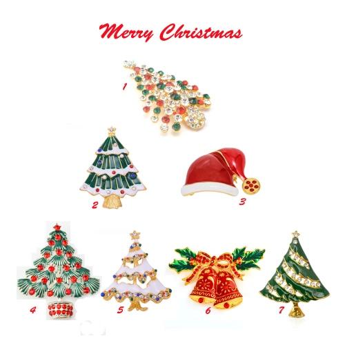 Новая мода Сияющий горный хрусталь Кристалл Брошь Воротник Клип булавка Одежда аксессуар ювелирные изделия шарф Пряжка для партии подарка праздника Рождества