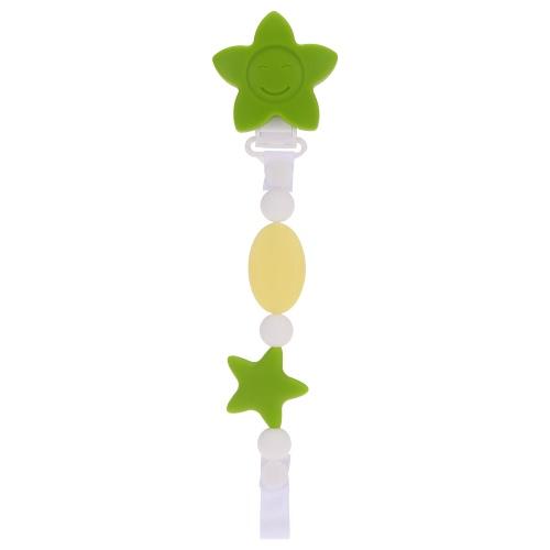 100% commestibile variopinto sveglio BPA del silicone libera ciuccio clip del supporto della catena Palline Morbide per la dentizione Massaggiagengive Chew Nursing lenitivo gioielli giocattolo del bambino ragazze dei ragazzi del bambino regalo