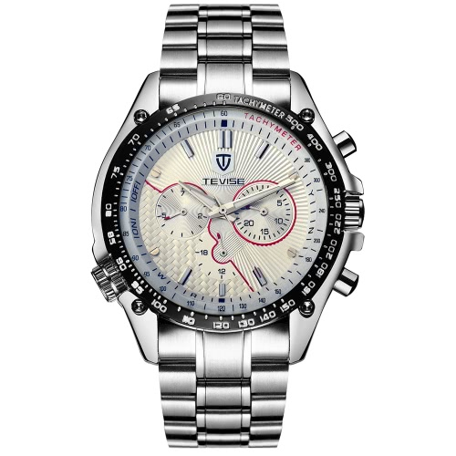 TEVISE Full Steel Discolored Glass Man Watches