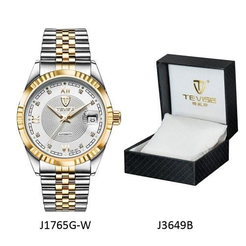 TEVISE Top Brand Herrenmode Luxus wasserdichte Armbanduhr