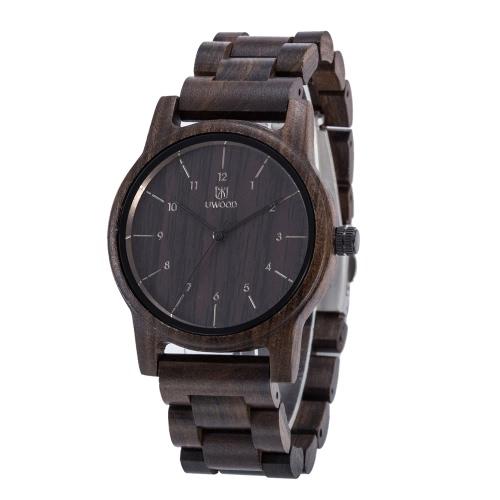 UWOOD modnego stylu mężczyzna Brand analogowe wysokiej jakości drewna drewniany zegarek kwarcowy zegarek Biznes