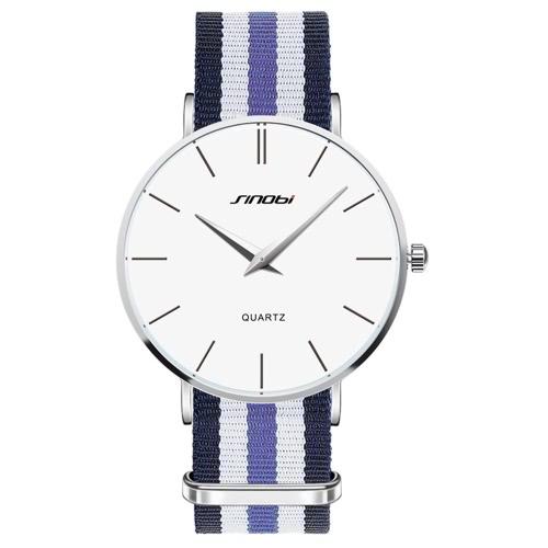 SINOBI 2016 lujo de la marca Casual hombre vestido del reloj del negocio 30M resistentes al agua relojes de cuarzo de los hombres