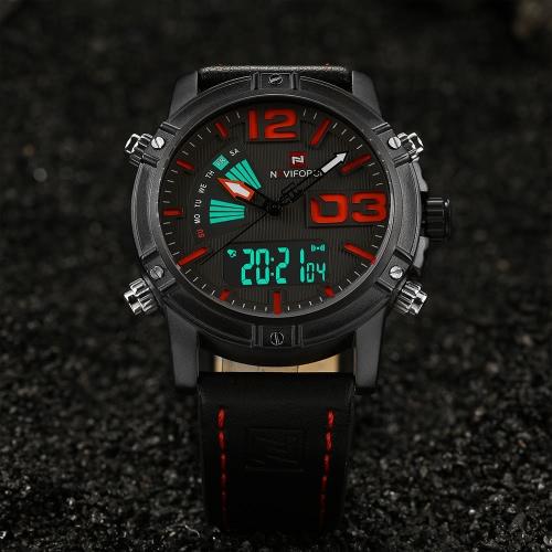 NAVIFORCE NF9095M reloj de los deportes de los hombres de la exhibición dual