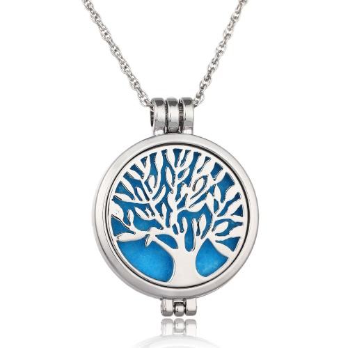 Collar de Aromatherapy delicado de la joyería Árbol del collar del difusor del perfume del colgante del Locket del patrón de la vida