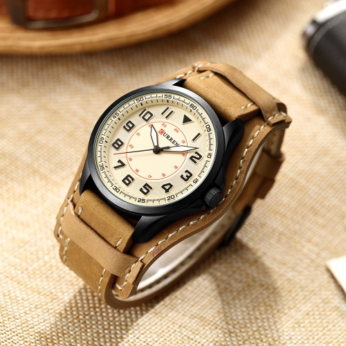 CURREN 2017 Fashion Cool Water-Proof Quartz Men Watch PU Band Luxury Sports Style Man Casual Wristwatch