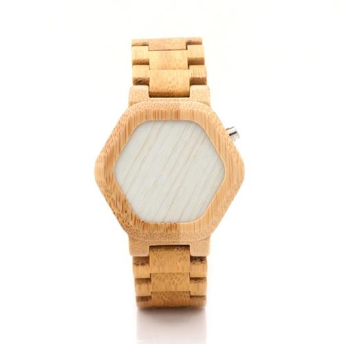 BOBOBIRD Mode Lässig Bambus Uhr Unisex Quarzuhr Hintergrundbeleuchtung Armbanduhr Männer Frauen Relogio Musculino Feminino