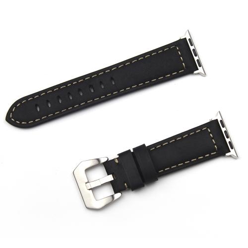 Banda de reloj de cuero genuino de la manera para la serie de iwatch correa de reloj 38mm / 42mm pulsera de reemplazo de la hebilla pin banda para Apple Watch Series