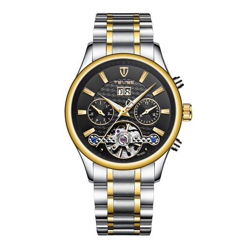 TEVISE Relógio mecânico automático de luxo luminoso