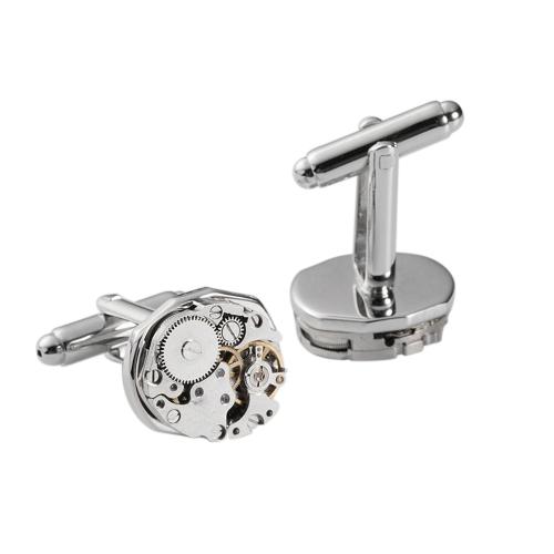 Botões de punho do movimento do relógio clássico vintage
