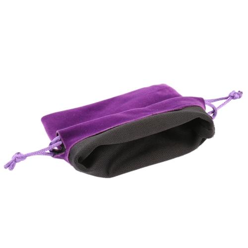 10pcs pequeña joyería bolso anillo pendientes colección con correa de almacenamiento fiesta bolsas de regalo de embalaje