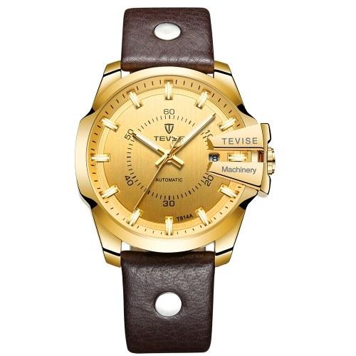 TEVISE Автоматические мужские механические часы Светящиеся водонепроницаемые спортивные наручные часы для бизнеса
