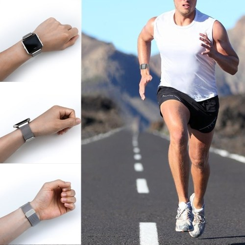 Fitbit Versa Bands Edelstahl Armband mit einzigartigen Magnetverschluss Zubehör Bands für Frauen Bands für Männer Armbänder für Fitbit Versa
