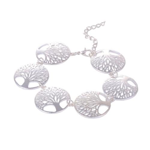 Schmuckset für Frauen Baum des Lebens Runde ausgehöhlten Totem Anhänger Halskette Ohrringe Armband Dekoration