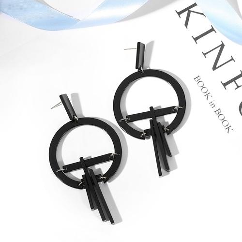 Mode Acryl Quaste Ohrringe geometrische Runde Kreis Anhänger Ohrringe für Frauen Charme Schmuck