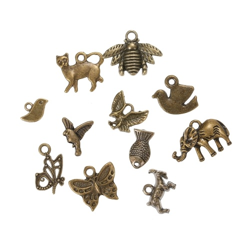 100pcs Animal Pendant Charms Pendants Diy For Jewelry Making And Crafting Alloy Accessories