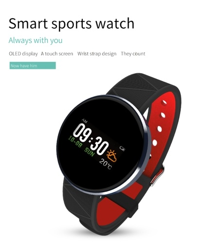 S12 Smart Bracelet Sport Watch Heart Rate Sleep Monitor with OLED Screen Fitness Tracker Touch Pad Blood Pressure Smart Band