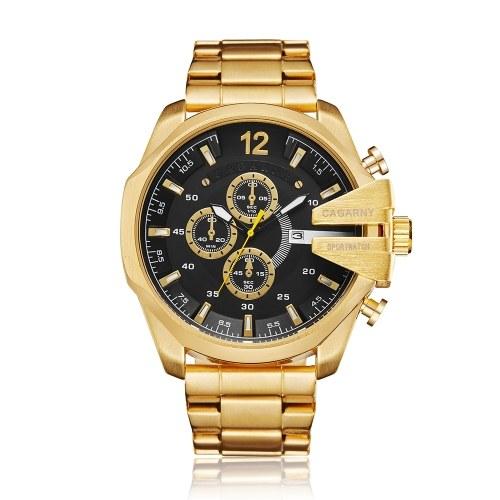 CAGARNY 6839 Классические кварцевые мужские часы с большим циферблатом с большим циферблатом фото