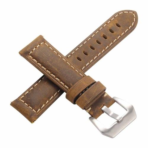 For Samsung Galaxy Watch Premium Vintage Crazy Horse Genuine Leather Strap