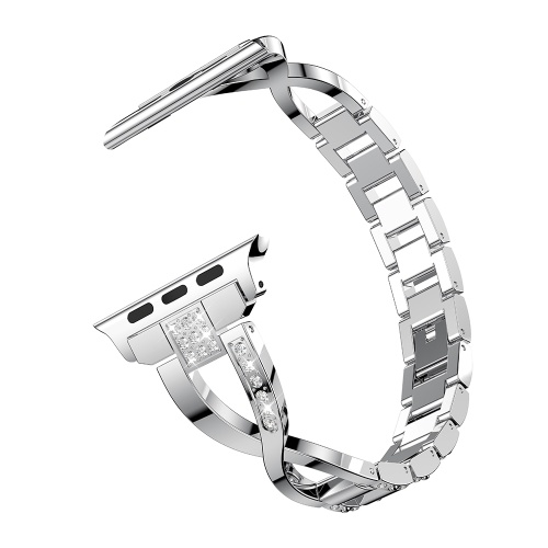 For A-pple Watch 1 2 3 4 5 Universal Diamond Stainless Steel Strap