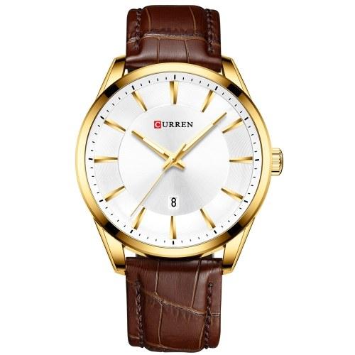 CURREN 8365 Кварцевые мужские наручные часы для мужчин с кожаным ремешком с ремешком для календаря Индикатор даты Водонепроницаемые мужские часы Носимые аксессуары